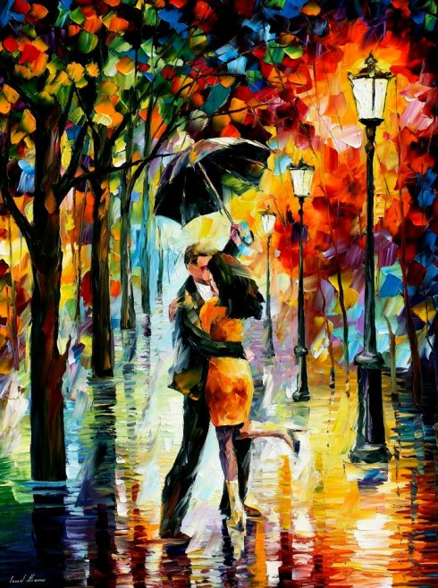 dance_under_the_rain___afremov_by_leonidafremov-d4cpnmn