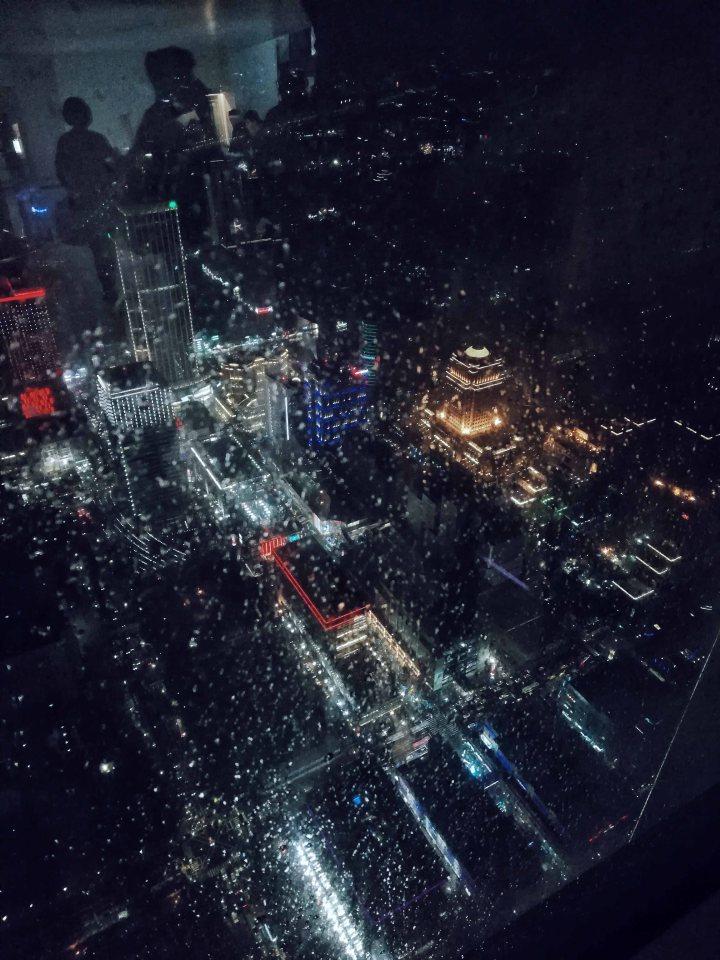 Rainy Night at Taipei 101