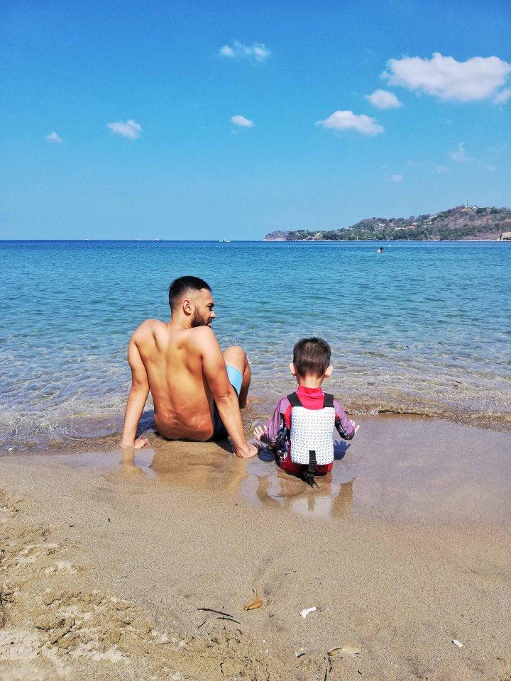 Darel and Rafa by the beach