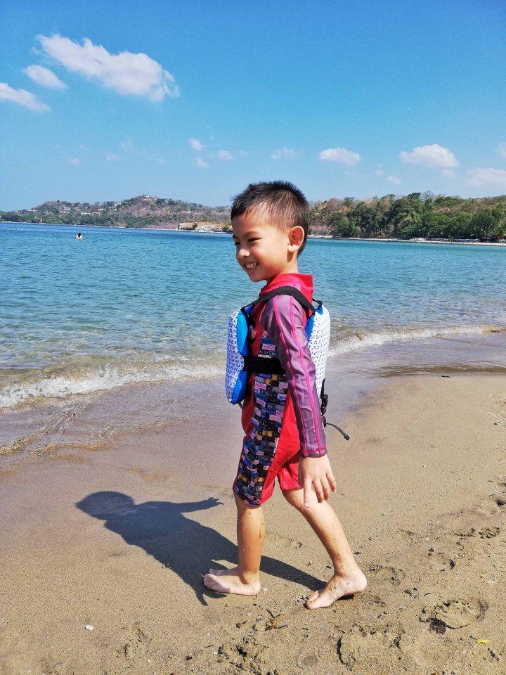 Rafa at the beach