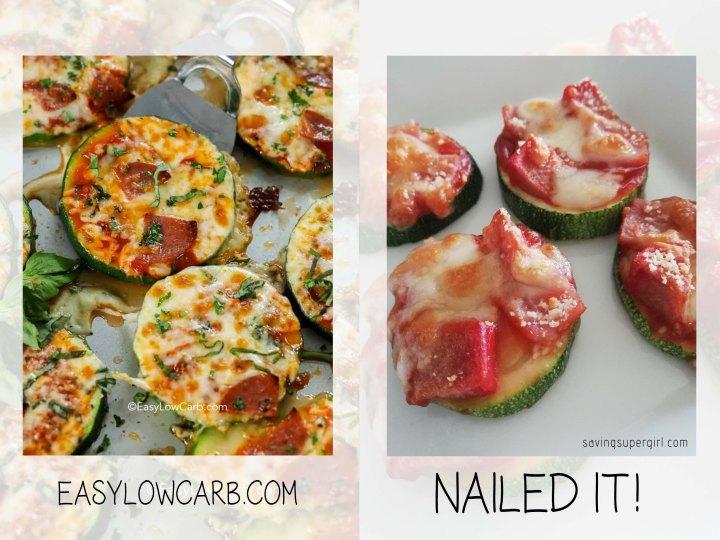 10 savingsupergirl - nailed it zucchini pizza bites - nailed it